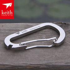 Keith Titanium Multifunction Carabiner Spanner Buckle Spoke Key Bicycle Tool