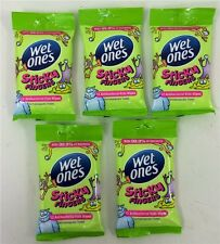 5 Packs Wet Ones Sticky Fingers Antibacterial Kids Travel Wipes 5 packs x 12