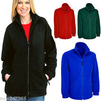 Ladies Loose Fit Fleece Jacket Size 10 to 28 Plus NEW