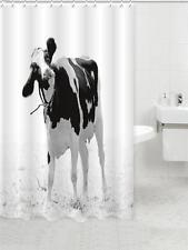 BLACK & WHITE Holstein le FRISONE ITALIANE Mucca al Pascolo Tenda da doccia bagno poliestere