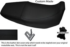 BLACK STITCH CUSTOM FITS HONDA XR 125 03-12 DUAL LEATHER SEAT COVER