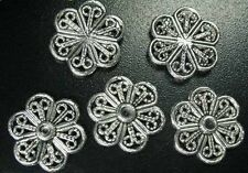 70 Pcs Tibetan Silver filigree flat flower links FC65