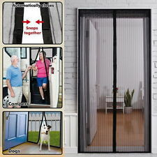 NEW Magic Curtain Door Mesh Magnetic Fastening Hands Free Insect Screen Net FE