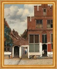 The Little Street Jan Vermeer Backsteinhaus Stadt Häuser Rot Ziegel B A3 02468