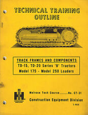 INTERNATIONAL VINTAGE CRAWLER  TRACK FRAMES AND COMPONENTS TRAINING  MANUAL