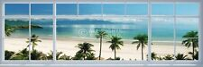 BEACH WINDOW VIEW DOOR POSTER (53x158cm)  NEW WALL ART