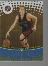 MIKE DUNLEAVY 2002-03 TOPPS PRISTINE ROOKIE CARD #58/1999