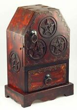 Handcrafted Pentagram Cupboard Chest Stash Herb Box Ritual Wicca
