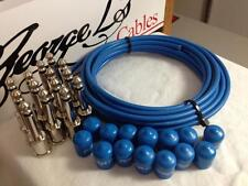 George L's 155 Pedalboard Effects Cable Kit LARGE .155 Blue / Nickel 15/14/14