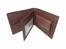 Leather Money Wallet Purse for Men Gents with Card Slots - Brown
