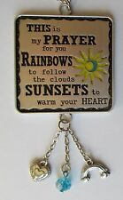Rainbow to follow clouds sunsets Prayer for you CAR CHARM mirror ornament Ganz