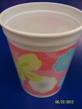 Spring Floral Pink Flower Butterfly Garden Party Favor Gift 16 oz. Plastic Cup