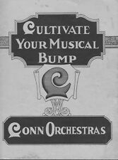 1920's Conn Orchestras Cultivate Your Musical Bump Rare Catalog Of Bands PDF DVD