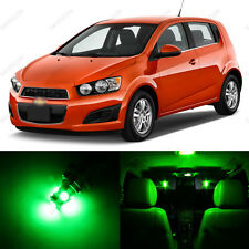 13 x Green LED Interior Light Package For 2012-2014 Chevrolet Chevy Sonic