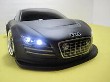 1/10 Scale AUDI R8  RTR Custom RC Drift -Cars  2.4Ghz & Charger BLK