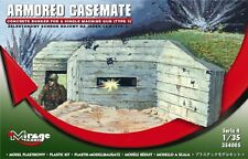 ARMORED CASEMATE ,CONCRETE BUNKER FOR SINGLE MG, MIRAGE HOBBY 354005, SCALE 1/35