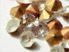 Lot (220) 4 mm Czech vintage foil backed faceted crystal glass rhinestones