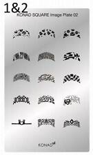 Konad Nail Art New Square Image Plate SQ-02 - 20 nail designs
