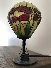 Tiffany Style Stained Glass Hot Air Balloon Dragonfly Accent Table Lamp Light