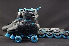 Roller Derby Size 3-6 Convertible  Roller Skates & Rollerblades 2-in-1 Combo