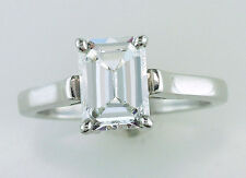 Tiffany & Co. GIA Certified 1.22ct Emerald Cut Diamond Platinum Engagement Ring