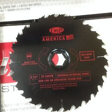 "Cuz-D Straight Flush Saw, 8-1/2"" Zero Clearance Saw Blade"