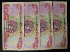 4x25,000 New Iraqi Dinar Note/Currency Collection; 100K total Dinar - No Reserve