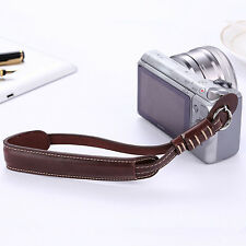 Genuine Leather Coffee Camera Hand Wrist Strap For Sony Camera