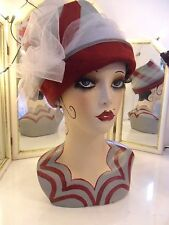 Vintage style hand painted mannequin head and shoulders.
