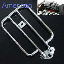 Chrome Luggage Rack Solo Seat For Harley Davidson Sportster XL883 1200 2004-2015