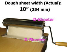 "10"" 254mm Dough roller sheeter Pizza pastry roti ravioli dough machine equipment"