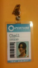 Portal Id Badge - Aperture Chell w/photo costume prop cosplay