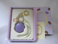 LADUREE Macaron Keychain  Keyring  Bag Charm Violet from Japan New