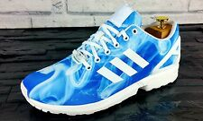 BNWB & Limited Edition Adidas Originals ZX FLUX Blue White Trainers UK Size 10