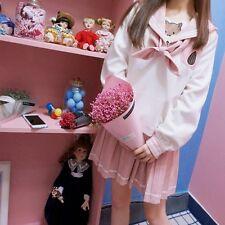 Japanese Harajuku Sweet Lolita Sailor collar Kawaii Tops Coat +Skirt Dress 2 pcs