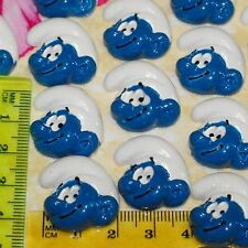 6 x Smurfs Boy Kawaii Flatback Scrapbooking Resin Flat Backs DIY Craft