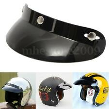Vcoros Vintage Helmet Black Visor Open Face Motorcycle Helmet New