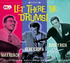3 CD BOX LET THERE BE DRUMS MAX ROACH GENE KRUPA BUDDY RICH