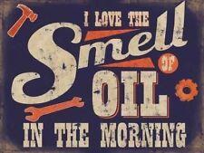 Smell of Oil en morning,Garaje Vintage Retro Graciosa,Grande De Metal/Muestra La