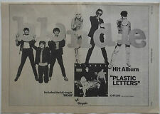 BLONDIE / BETHNAL Double-sided Poster Size Music Press ADVERT from NME 1978