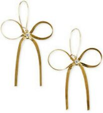 Betsey Johnson Crystal Goldtone Bow Drop Earrings! NWT!