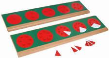 Montessori, Bruchrechenkreise Metall mit Ständer, MS76