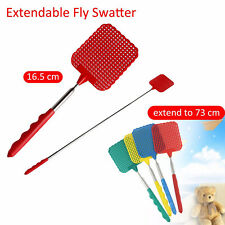 Hot 73cm Telescopic Extendable Fly Swatter Prevent Pest Mosquito Tool Plastic SK