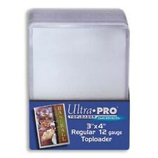 200 ULTRA PRO 3x4 Sports Card Toploaders + FREE SLEEVES FREE SHIPPING