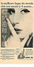 PUBLICITE ADVERTISING  1960   CHEN YU  cosmétiques