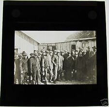 Glass Magic Lantern Slide LONGYEAR CITY MINERS C1900 NORWAY