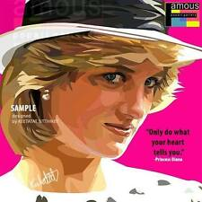 Princess Diana canvas quotes wall decals photo painting framed pop art poster