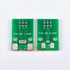 20pcs FFC/FPC 6Pin 1mm 0.5mm to DIP Adapter PCB Board Converter Double Side F82A