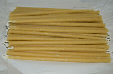 "50 -  9"" - Natural Beeswax Slim Taper Candles Honey Scent 1/4"" Diameter"