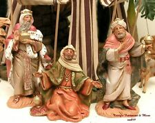 "FONTANINI DEPOSE ITALY 5"" 3 KINGS MELCHIOR GASPAR BALTHAZAR NATIVITY FIGURES NIB"